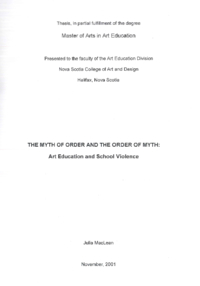 The Myth of Order and the Order of Myth
