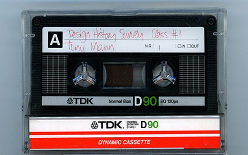 Image of cassette tape of Anthony Mann lecture, decorative